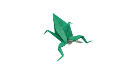 Simple Origami Frog
