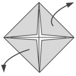 Unfold two opposite corners