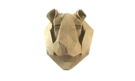 Origami Lion Mask, by Victoria Serova