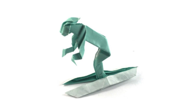 A Little Origami Skier
