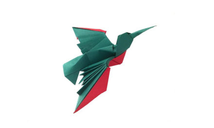 Somebody requested an Origami Hummingbird!