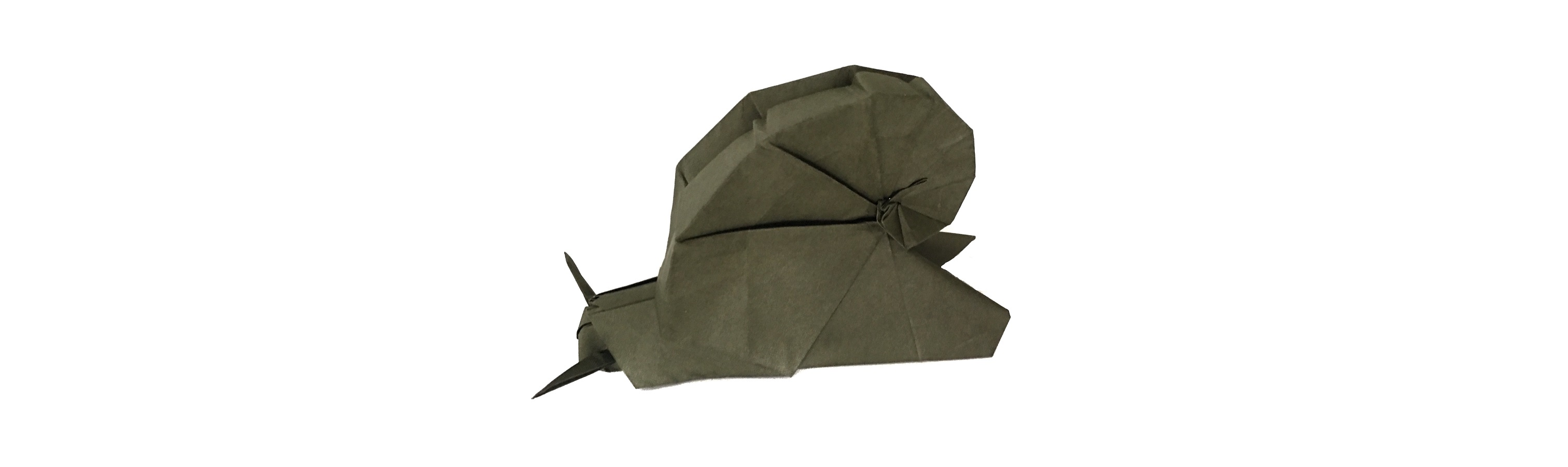 An origami snail goes to buy a car….