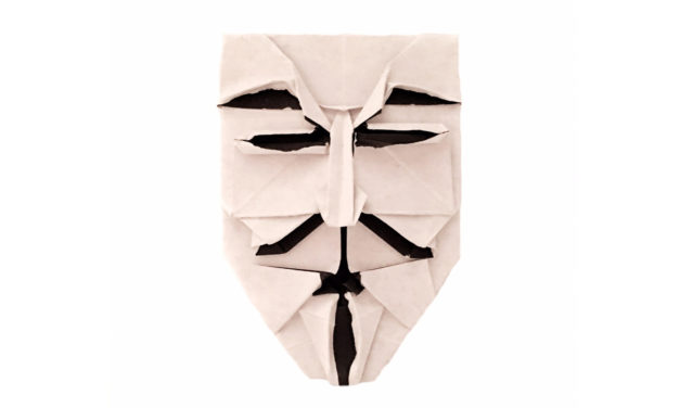 Origami Guy Fawkes Mask for Bonfire Night