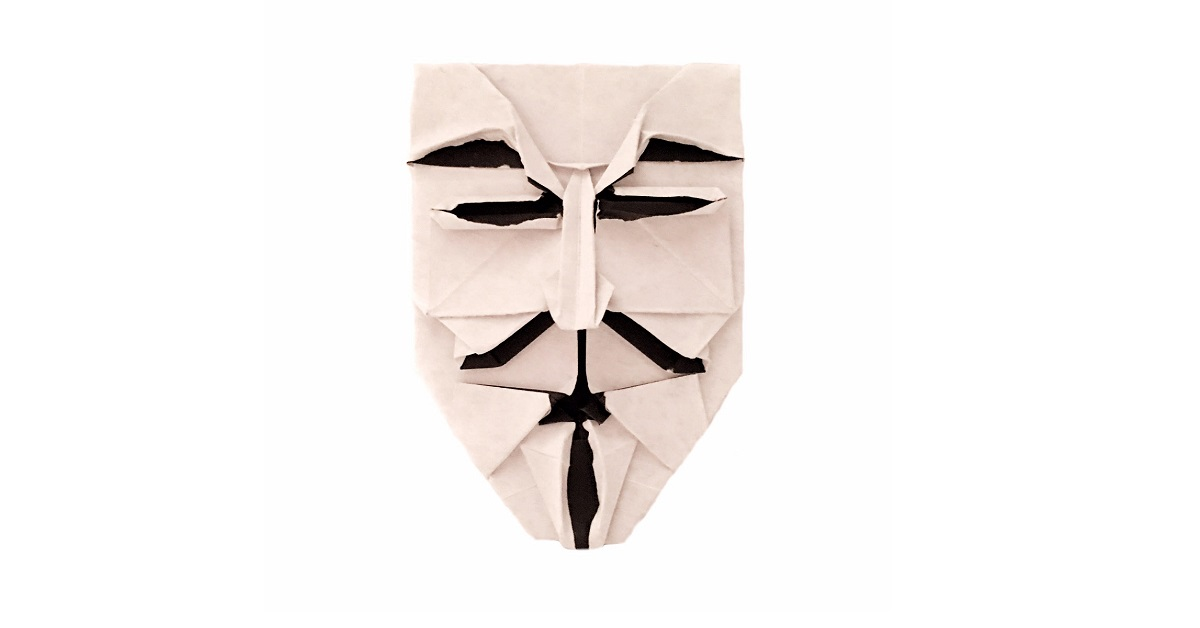 Origami Guy Fawkes Mask