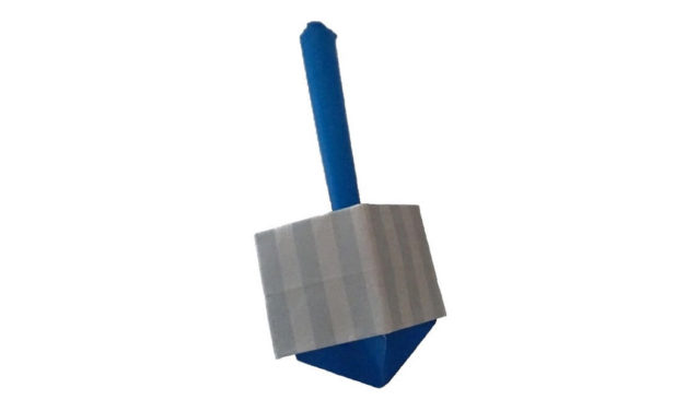 An Origami Dreidel for a Happy Hanukkah!