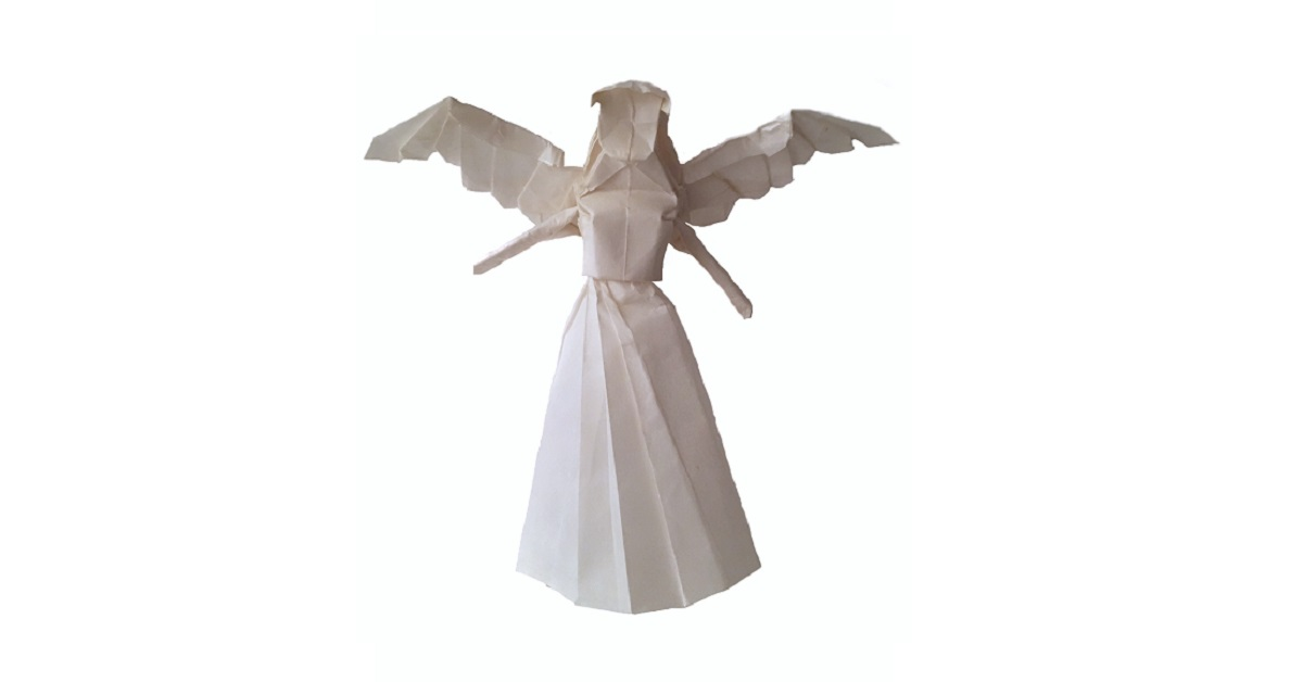 An Origami Angel to top your Christmas Tree!