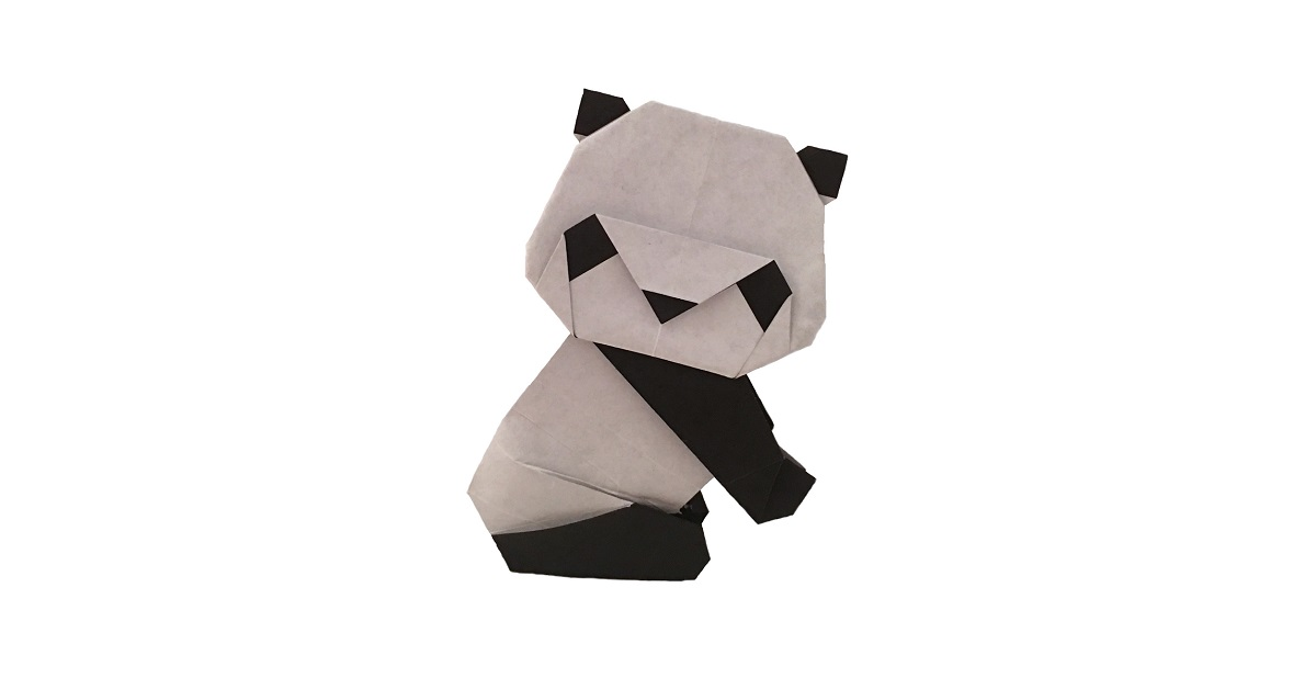 An Origami Panda is just as cute as a real one!