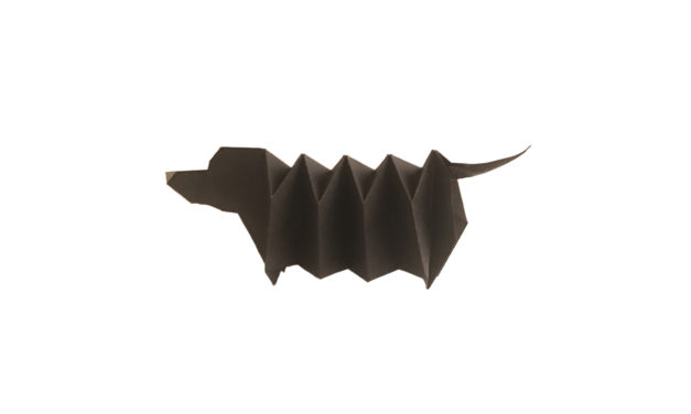 An expandable Origami Dachshund!