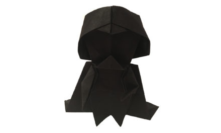 An Origami Darth Vader for Star Wars Day