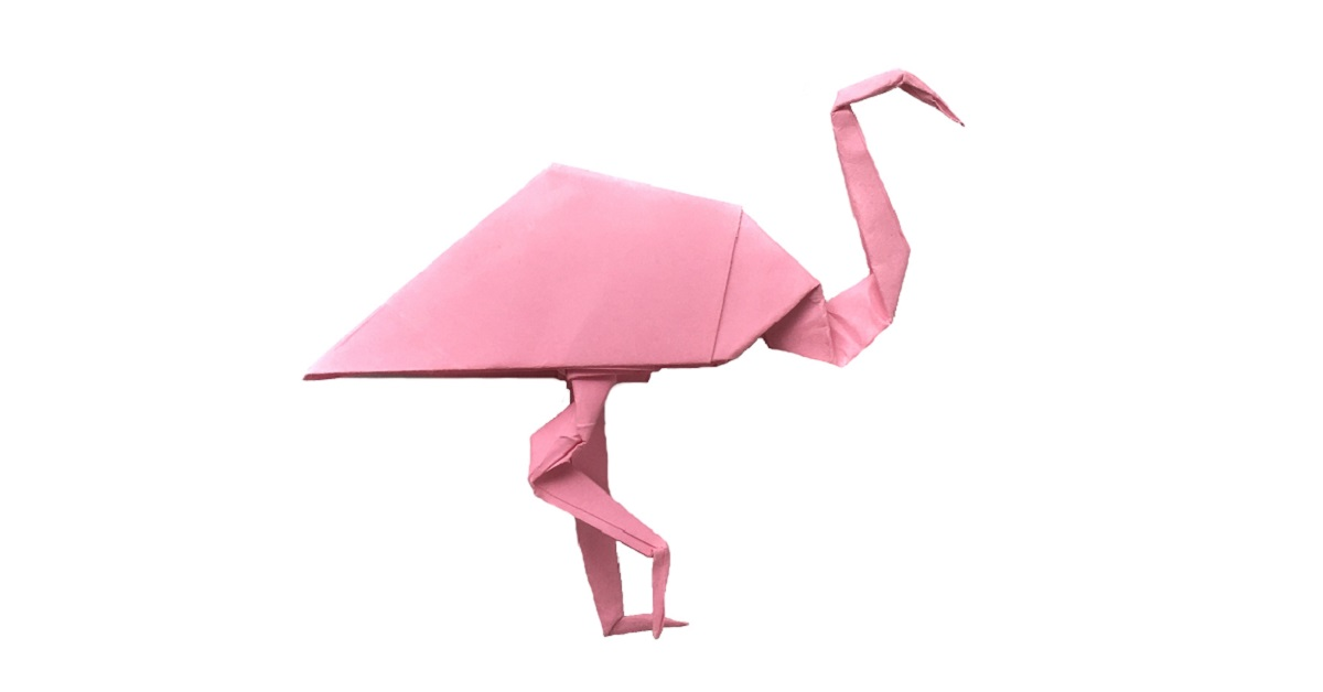 Pretty In Pink An Origami Flamingo Origami Expressions