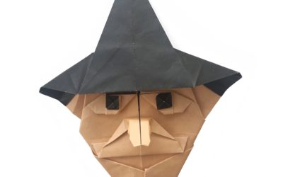 Fold an Origami Witch for Halloween