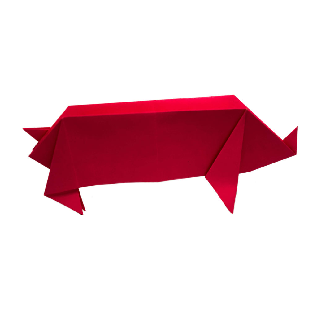 Traditional Origami Pig
