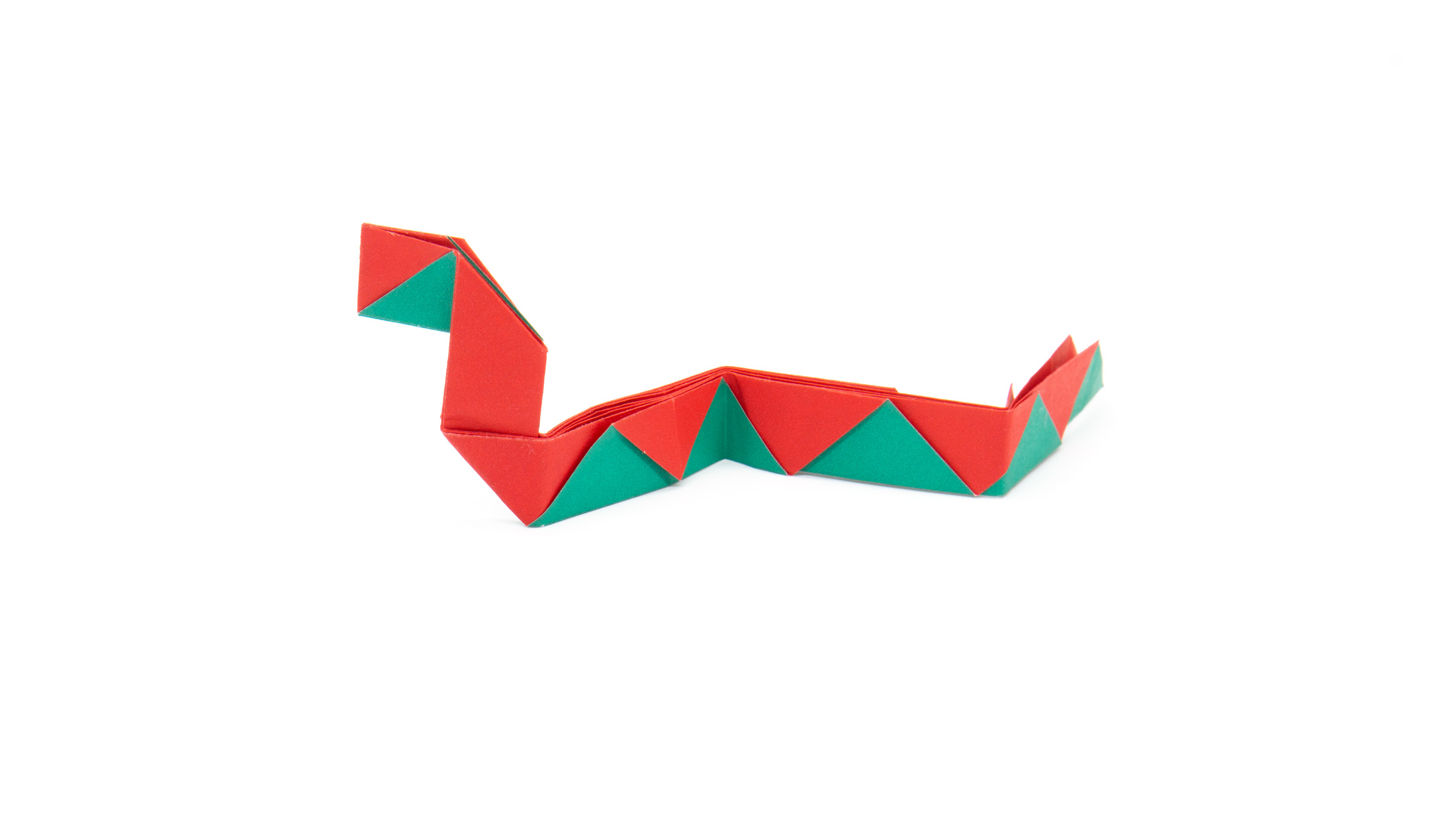 traditional origami snake model