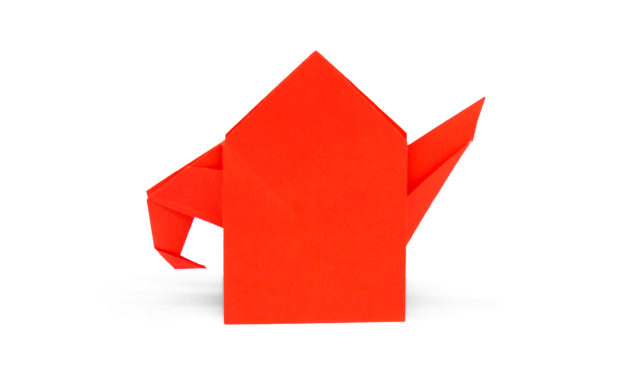 A Little Easy Origami Teapot