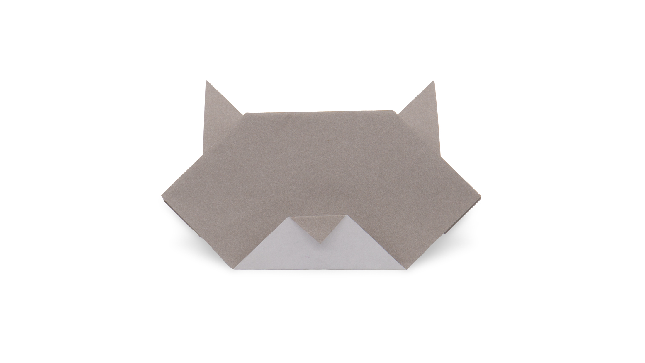 How To Make An Easy Origami Cat Face - Folding Instructions ... | 1240x2200