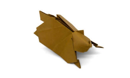 An Origami Flying Squirrel….and Cheeseburgers
