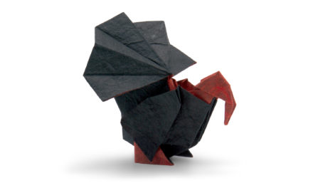 An Origami Turkey Ahead of Thanksgiving