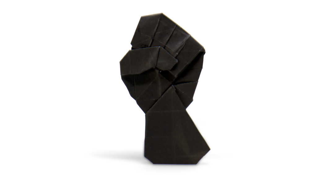 black lives matter logo in origami