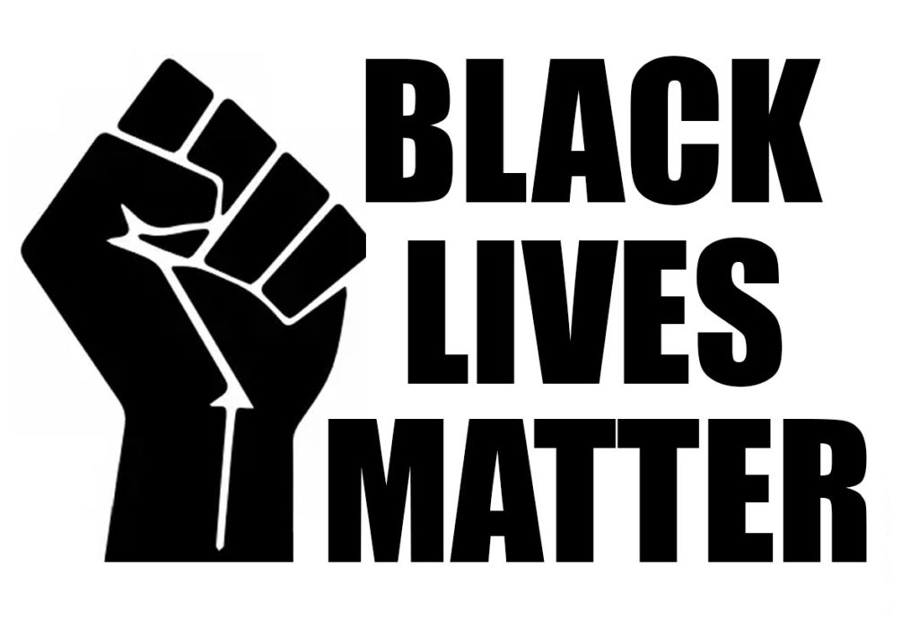 fist with text black lives matter