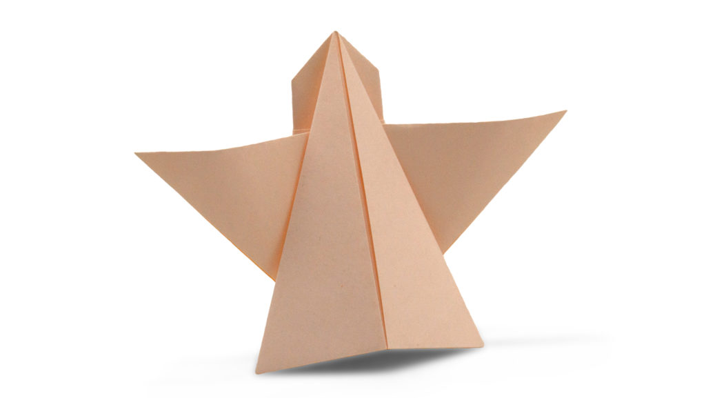 easy origami angel model