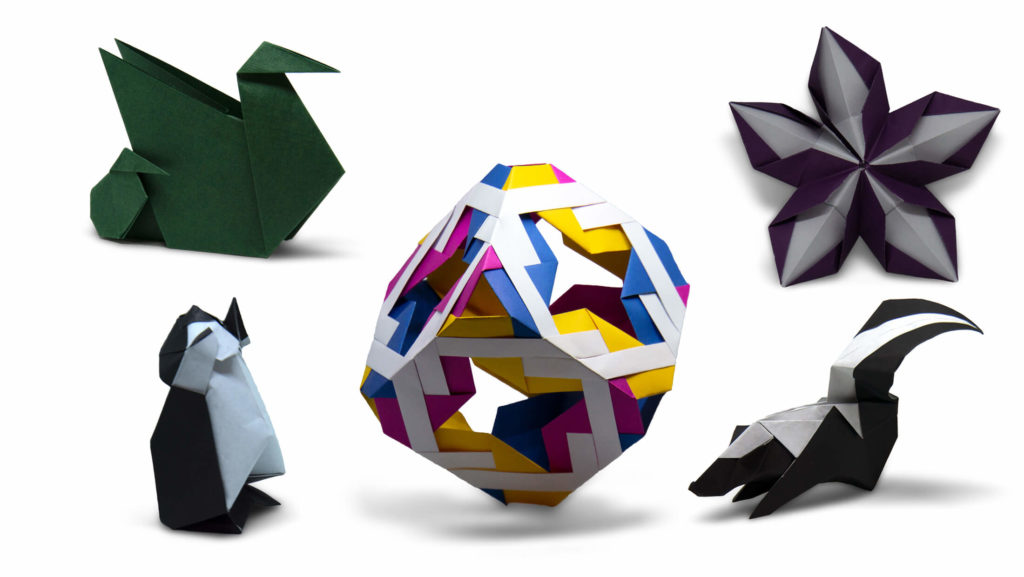 all the origami models that I folded for the British Origami VCon