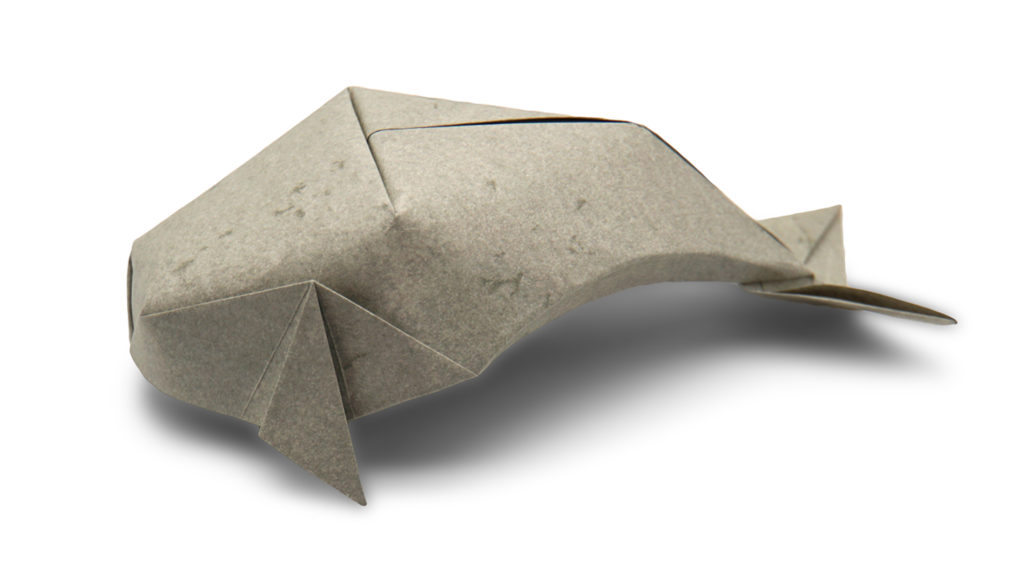 origami grey whale