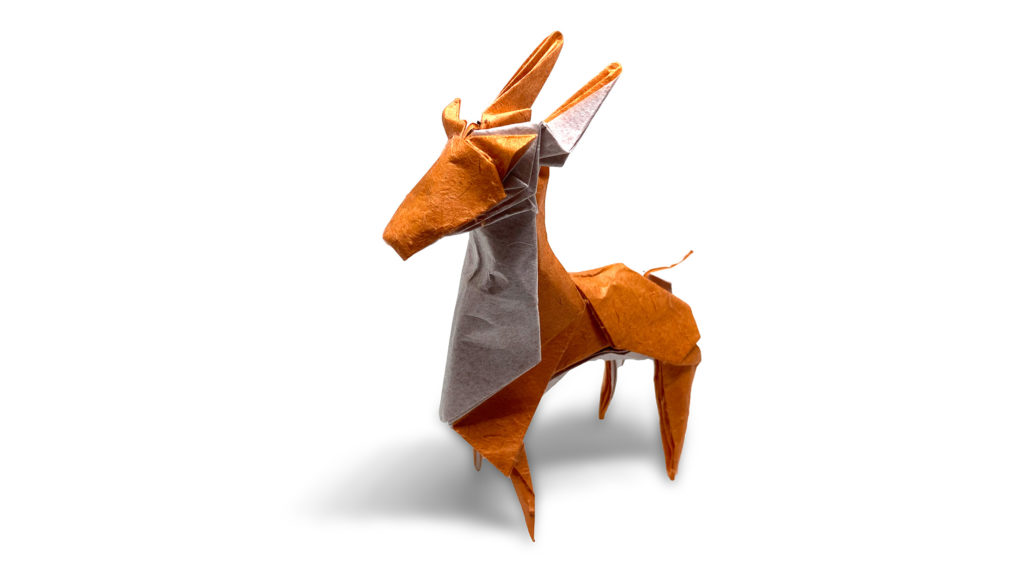 origami white tailed deer