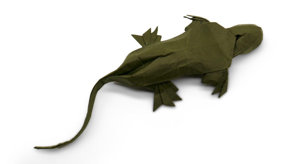 origami gecko designed by Red Paper from the book Pure Origami