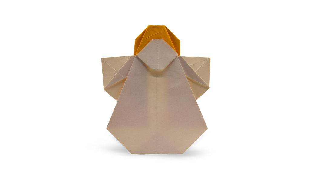 pureland origami angel designed by Marc Kirschenbaum from the book Pure and Simple Origami