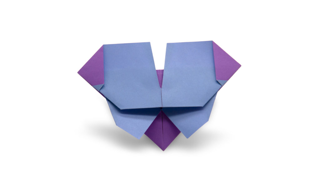 pureland origami butterfly designed by Marc Kirschenbaum from the book Pure and Simple Origami