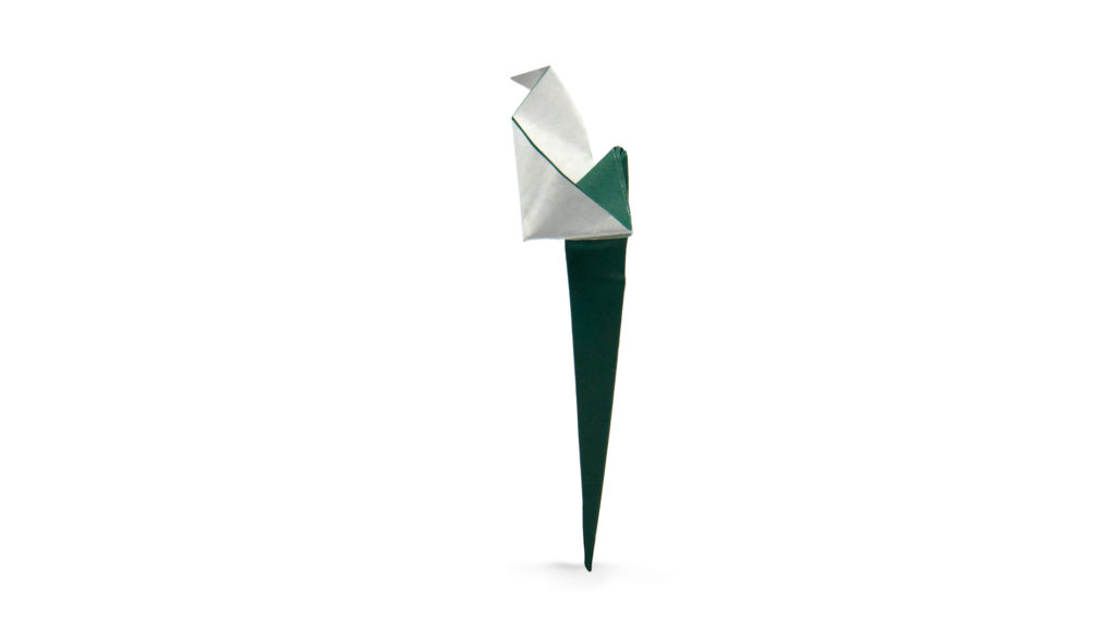 pureland origami calla lily designed by Marc Kirschenbaum from the book Pure and Simple Origami