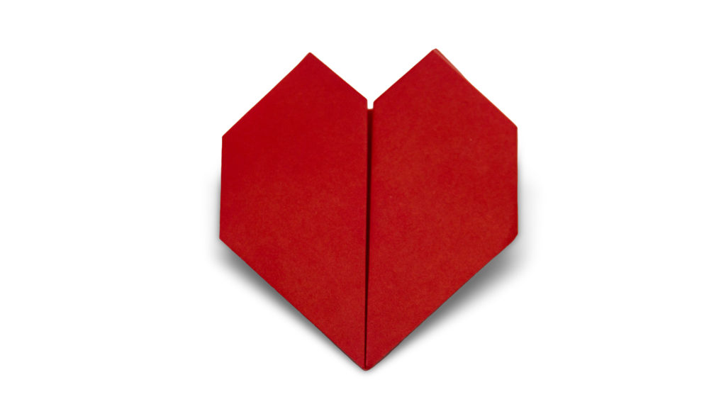 pureland origami heart designed by Marc Kirschenbaum from the book Pure and Simple Origami