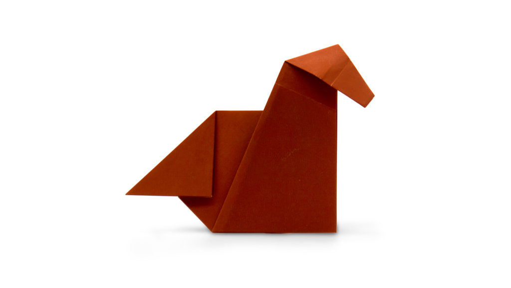 pureland origami horse designed by Marc Kirschenbaum from the book Pure and Simple Origami
