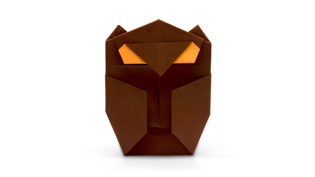 origami owl designed by Marc Kirschenbaum from the book Pure and Simple Origami
