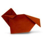 pureland origami ram designed by Marc Kirschenbaum from the book Pure and Simple Origami