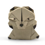 origami teddy bear designed by Marc Kirschenbaum from the book Pure and Simple Origami