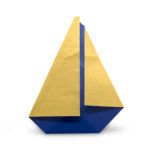 origami yacht designed by Marc Kirschenbaum from the book Pure and Simple Origami
