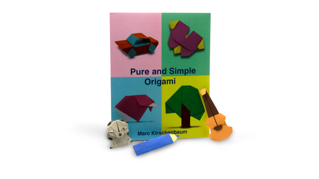 pure and simple origami book with a few of the folded models