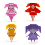 A Group of Origami Girls by Chen Xiao